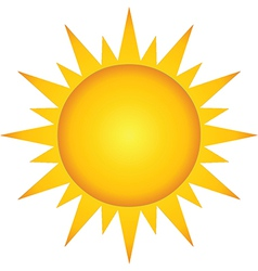 Summer Hot Sun vector image