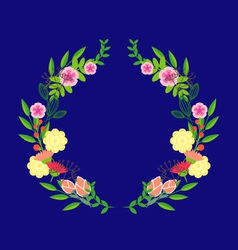 Abstract circle with flowers vector image vector image