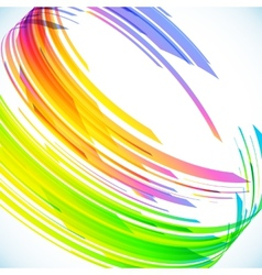 Abstract rainbow cylinder background vector image