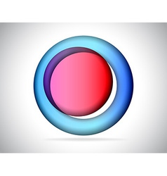 Abstract round colorful glass vector image