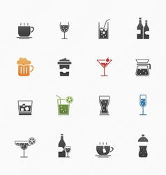 Beverage symbol icons vector image