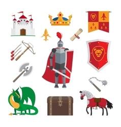 Medieval kingdom icons vector