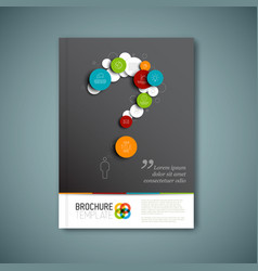 modern abstract brochure report design template vector image vector image