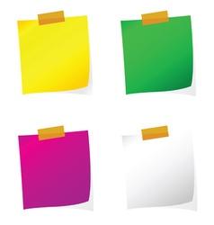 reminder set color on white vector image vector image