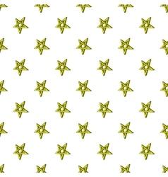 Star crossed pattern cartoon style vector image vector image