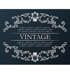 vintage frame Royal retro ornament decor black vector image