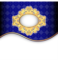 background frame ornaments of gold vector image