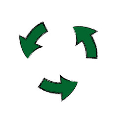 green arrow recycle environment ecology symbol vector image