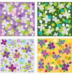 lilac set vector image vector image