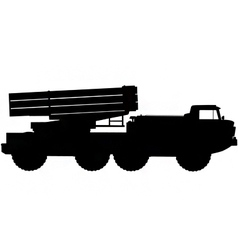 missile launcher silhouette vector image