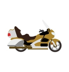 Sport bike silhouette transport power vector image