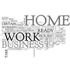 are you ready and minded to work at home text vector image