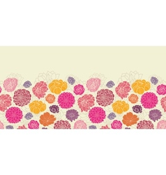 Colorful abstract flowers horizontal seamless vector image vector image