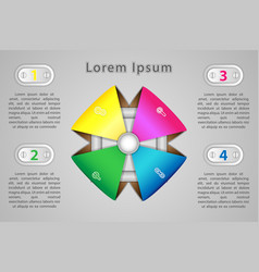 infographics four positions for presentation in vector image