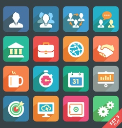 Office and business Flat icons vector image