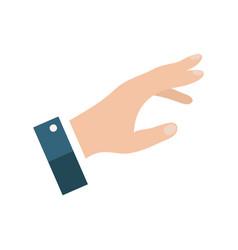 open empty hands showing different gestures hands vector image
