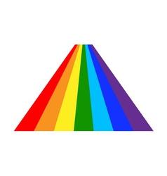 Rainbow icon cartoon 6 vector image vector image