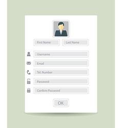 registration form vector image