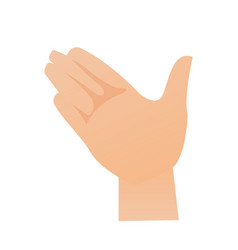 right palm hand cartoon vector image