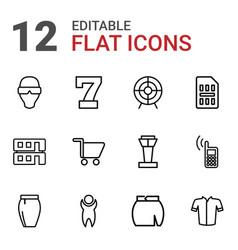 12 modern icons vector