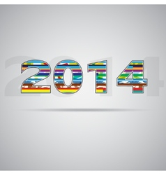 2014 year vector image