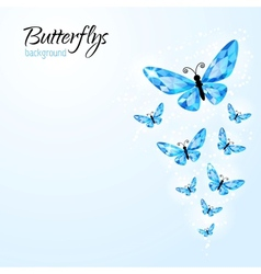 Abstract background with diamond butteflies vector