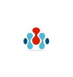 abstract molecul connect dot logo vector image
