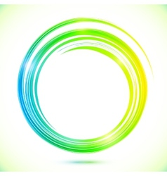 Abstract shining greencircle modern frame vector