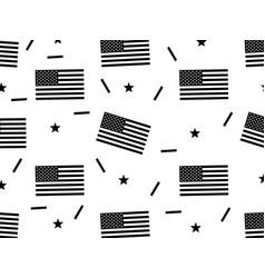 American flag seamless pattern texture black vector