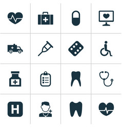 Antibiotic icons set collection handicapped vector