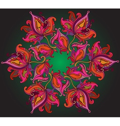 Background with ornament of the graphic flowers vector