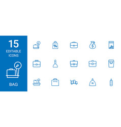 Bag icons vector