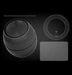 Barrel on a black background vector