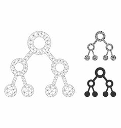 binary tree mesh wire frame model and vector image