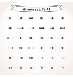 Black set arrows vector