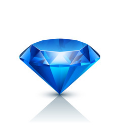 Blue jewels on white vector