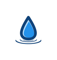 blue water drop logo design inspiration vector image