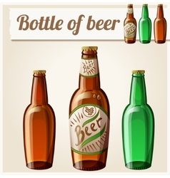 Bottle of beer Detailed Icon vector