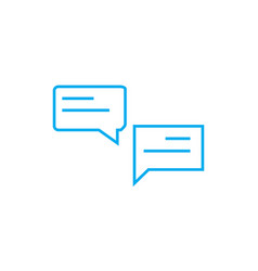 business communication linear icon concept vector image