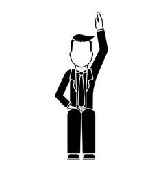 Businessman faceless icon image vector