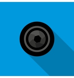 Camera aperture icon in flat style vector