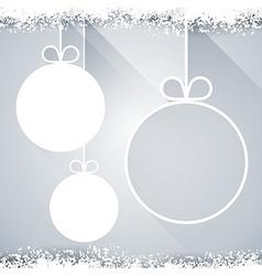 Christmas paper balls on light background vector image