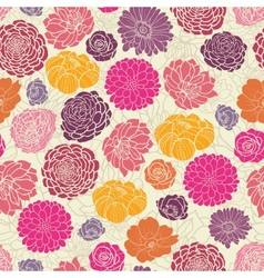 colorful abstract flowers seamless pattern vector image