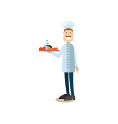 Cook concept in flat style vector