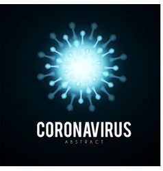 coronavirus covid19-2019 on blue background virus vector image