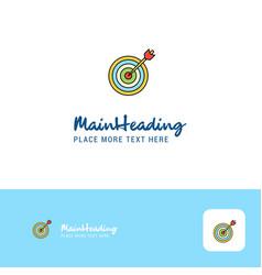 creative dart game logo design flat color logo vector image