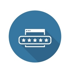 Customer Feedback Icon vector image
