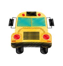 drawing school bus design vector image