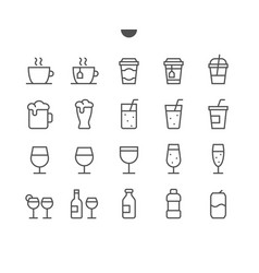 Drinks food ui pixel perfect well-crafted vector