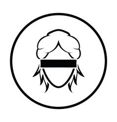 Femida head icon vector image